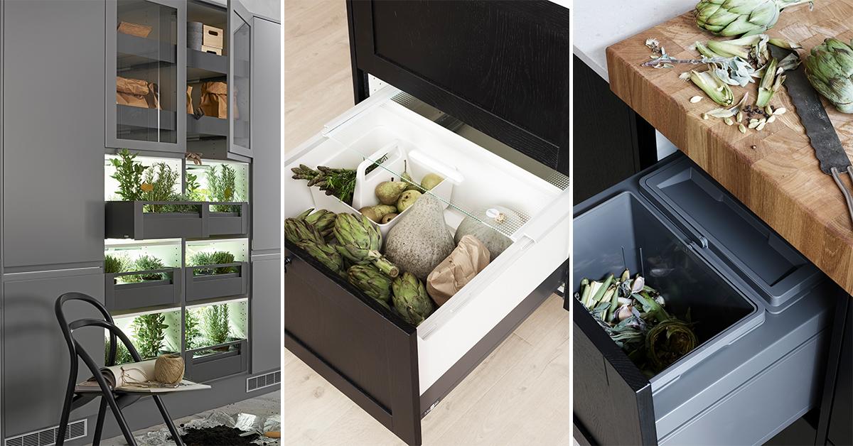 Bra sorteringslösningar för moderna kök.